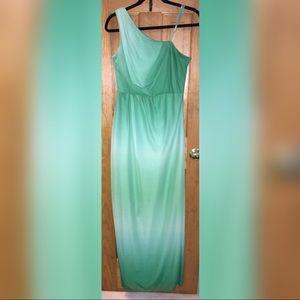 Ombré green formal dress
